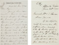 Autographs:Military Figures, [Indian Wars]. William T. Sherman Autograph Letter Signed...(Total: 4 Items)