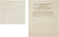 Autographs:Military Figures, Daniel H. Hill Autograph Letter Signed and MagazineSubscription....