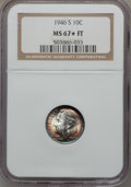 Roosevelt Dimes: , 1946-S 10C MS67 ★ Full Bands NGC. NGC Census: (202/1). PCGSPopulation (124/5). Mintage: 27,9...