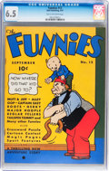 Platinum Age (1897-1937):Miscellaneous, The Funnies #12 (Dell, 1937) CGC FN+ 6.5 Tan to off-white pages....