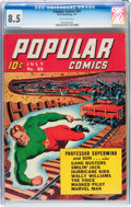 Golden Age (1938-1955):Miscellaneous, Popular Comics #65 (Dell, 1941) CGC VF+ 8.5 Off-white pages....