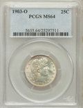 Barber Quarters, 1903-O 25C MS64 PCGS....
