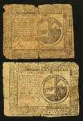 Colonial Notes:Continental Congress Issues, Continental Currency May 9, 1776 $2 Fine Duo.. ... (Total: 2 notes)