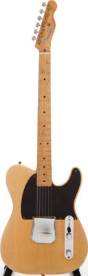 1953 Fender Esquire Butterscotch Blonde Solid Body Electric Guitar, Serial # 4741