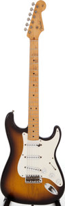 Musical Instruments:Electric Guitars, 1954 Fender Stratocaster Sunburst Solid Body Electric Guitar,Serial # 6511....