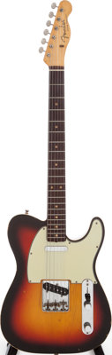 1962 Fender Telecaster Custom Sunburst Electric Guitar, Serial # 93125