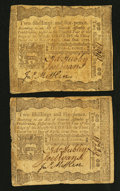 Colonial Notes:Pennsylvania, Pennsylvania April 3, 1772 2s 6d Fine to Very Fine Duo.. ...(Total: 2 notes)