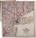Books:Maps & Atlases, [Atlas]. F. W. Beers. Atlas of New York and Vicinity. New York: F. W. Beers, A. D. Ellis & G. G. Soule, 1867. First ...