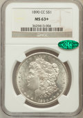 1890-CC $1 MS63+ NGC. CAC. NGC Census: (1641/1067 and 14/13+). PCGS Population: (3901/2786 and 44/140+). CDN: $785 Whsle...