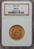 Liberty Eagles: , 1881 $10 MS62 NGC. NGC Census: (3283/651). PCGS Population(1360/280). Mintage: 3,877,260. Numismedia Wsl. Price for proble...