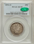 Barber Quarters: , 1892-O 25C XF45 PCGS. CAC. PCGS Population (14/449). NGC Census:(4/382). Mintage: 2,640,000. Numismedia Wsl. Price for pro...