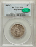 Seated Quarters: , 1842-O 25C Large Date VF35 PCGS. CAC. PCGS Population (12/49). NGCCensus: (1/19). Mintage: 769,000. Numismedia Wsl. Price ...