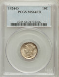 Mercury Dimes: , 1924-D 10C MS64 Full Bands PCGS. PCGS Population (159/121). NGCCensus: (120/79). Mintage: 6,810,000. Numismedia Wsl. Price...
