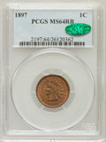 Indian Cents: , 1897 1C MS64 Red and Brown PCGS. CAC. PCGS Population (230/31). NGCCensus: (332/210). Mintage: 50,466,328. Numismedia Wsl....