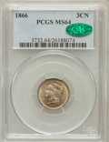 Three Cent Nickels: , 1866 3CN MS64 PCGS. CAC. PCGS Population (197/92). NGC Census:(204/120). Mintage: 4,801,000. Numismedia Wsl. Price for pro...