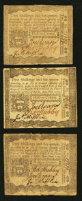 Colonial Notes:Pennsylvania, Pennsylvania April 3, 1772 2s 6d Very Fine Trio.. ... (Total: 3notes)