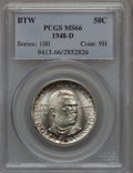Commemorative Silver: , 1948-D 50C Booker T. Washington MS66 PCGS. PCGS Population (227/9).NGC Census: (219/23). Mintage: 8,005. Numismedia Wsl. P...