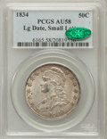 Bust Half Dollars: , 1834 50C Large Date, Small Letters AU58 PCGS. CAC. PCGS Population(65/86). (#6165)...