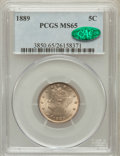Liberty Nickels: , 1889 5C MS65 PCGS. CAC. PCGS Population (92/11). NGC Census:(174/45). Mintage: 15,881,361. Numismedia Wsl. Price for probl...