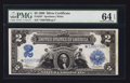 Large Size:Silver Certificates, Fr. 258* $2 1899 Silver Certificate PMG Choice Uncirculated 64 EPQ.. ...