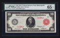 Large Size:Federal Reserve Notes, Fr. 900a $10 1914 Red Seal Federal Reserve Note PMG Gem Uncirculated 65 EPQ.. ...