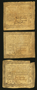 Colonial Notes:Pennsylvania, Pennsylvania April 3, 1772 2s 6d Fine to Very Fine Trio.. ...(Total: 3 notes)