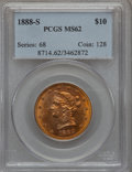 Liberty Eagles: , 1888-S $10 MS62 PCGS. PCGS Population (463/126). NGC Census:(506/82). Mintage: 648,700. Numismedia Wsl. Price for problem ...