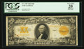 Large Size:Gold Certificates, Fr. 1187 $20 1922 Gold Certificate PCGS Apparent Very Fine 20.. ...