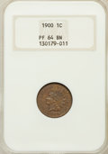 Proof Indian Cents: , 1900 1C PR64 Brown NGC. NGC Census: (26/50). PCGS Population(16/10). Mintage: 2,262. Numismedia Wsl. Price for problem fre...