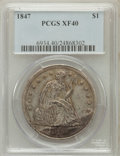 Seated Dollars: , 1847 $1 XF40 PCGS. PCGS Population (58/403). NGC Census: (22/340).Mintage: 140,750. Numismedia Wsl. Price for problem free...
