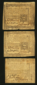 Colonial Notes:Pennsylvania, Pennsylvania April 3, 1772 2s Very Fine Triplet.. ... (Total: 3notes)