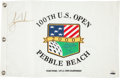 "Golf Collectibles:Autographs, Tiger Woods Signed ""2000 U.S. Open"" Upper Deck AuthenticatedFlag...."