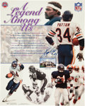 Football Collectibles:Photos, Walter Payton Signed Oversized Print....