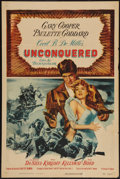"Movie Posters:Adventure, Unconquered (Paramount, R-1955). One Sheet (27"" X 41""). Adventure....."