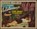 "Movie Posters:Exploitation, Stolen Paradise (Monogram, 1940). Half Sheet (22"" X 28"").Exploitation.. ..."