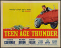 "Movie Posters:Exploitation, Teenage Thunder (Howco, 1957). Half Sheet (22"" X 28""). Exploitation.. ..."