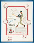 Baseball Collectibles:Photos, Ted Williams Signed Advertisement....