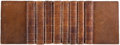 Books:Fine Bindings & Library Sets, Tobias Smollett. The History of England from the Revolution to the Death of George the Second. London: 1794. New... (Total: 8 Items)