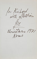 Entertainment Collectibles:Movie, [Richard Burton]. Leon Trotsky. History of the RussianRevolution. London: 1965. Inscribed by Director...