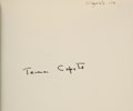 Books:Literature 1900-up, Truman Capote. The Thanksgiving Visitor. New York: Random House, 1967. First edition. Signed by Capote....