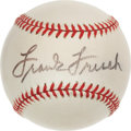Autographs:Baseballs, Circa 1960 Frank Frisch Single Signed Baseball, PSA/DNA NM+ 7.5....