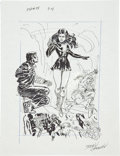 Original Comic Art:Miscellaneous, Jerry Ordway Justice Society of America #24 Page 14Preliminary Artwork Original Art (DC, 2009)....
