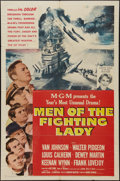 "Movie Posters:War, Men of the Fighting Lady (MGM, 1954). One Sheet (27"" X 41""). War....."