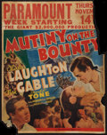 "Movie Posters:Academy Award Winners, Mutiny on the Bounty (MGM, 1935). Jumbo Window Card (22"" X 28""). Academy Award Winners.. ..."