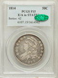 Bust Half Dollars, 1814 50C E Over A Fine 15 PCGS. CAC. PCGS Population (2/78).Numismedia Wsl. Price for problem free NGC...