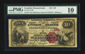 National Bank Notes:Pennsylvania, Franklin, PA - $10 1882 Brown Back Fr. 479 The First NB Ch. # 189....