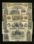 Obsoletes By State:Louisiana, New Orleans, LA- New Orleans Canal & Banking Co. $5; $10; $20; $50 (2) 18__. ... (Total: 5 notes)