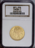 Indian Eagles: , 1911 $10 MS60 NGC. NGC Census: (116/4178). PCGS Population(127/3335). Mintage: 505,595. Numismedia Wsl. Price: $525. (#886...