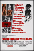 "Movie Posters:James Bond, From Russia with Love (United Artists, R-1970s). One Sheet (27"" X 41""). James Bond. ..."