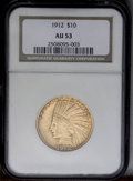 Indian Eagles: , 1912 $10 AU53 NGC. NGC Census: (7/3202). PCGS Population (9/2771).Mintage: 405,083. Numismedia Wsl. Price: $478. (#8871)...
